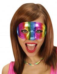 Augenmaske Kostümaccessoire bunt metallic 17cm breit