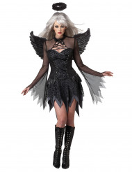 Fallen Angel Halloween Damenkostüm Engel schwarz