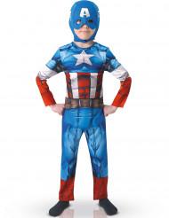 Avengers Assemble Captain America Overall Kinderkostüm Lizenzware blau-rot-weiss