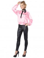 Kostüm 80er Jahre für Damen rosa-schwarz