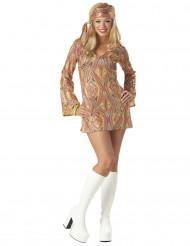 70er Disco Damen-Kostüm bunt