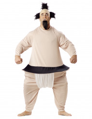 Sumo Ringer Kostüm beige-schwarz