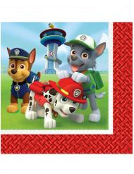 Paw Patrol  Servietten Lizenzartikel 20 Stück rot-bunt
