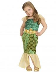 Meerjungfrau Kinderkostüm grün-gold