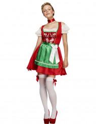 Bayerische Kellnerin Damenkostüm rot