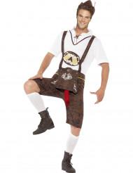Frivoles Bratwurst Bayern Kostüm braun-weiss