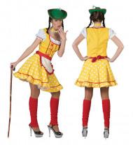 Trachtenkostüm für Damen gelb