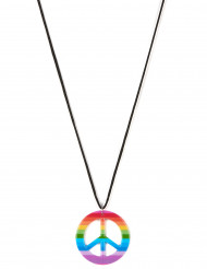 Peace-Halskette Hippie bunt