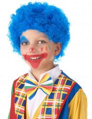 Perücke für Kinder Kostüm-Accessoire Clown gelockt blau
