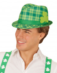 Fedora Hut mit Kleeblatt St. Patricks Day grün