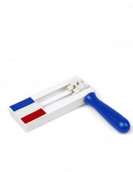 Fan Ratsche Frankreich blau-weiß-rot