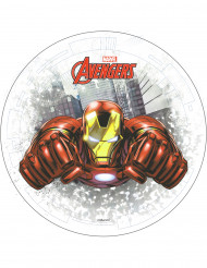 Avengers™ Iron Man™ Torten-Oblate Kuchendeko Lizenzware bunt 20cm