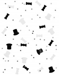 Gentleman Konfetti Party-Deko schwarz-silber 14g