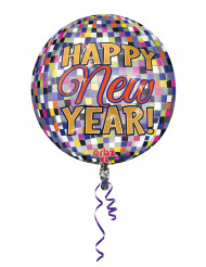 Luftballon Happy New Year Partydekoration bunt 38 cm