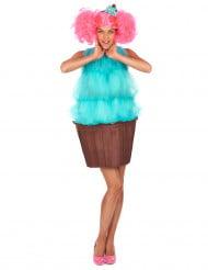 Süsses Cupcake Damenkostüm Törtchen türkis-braun