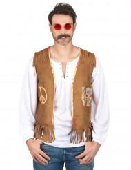 Hippieweste 70er Kostümaccessoire hellbraun