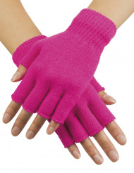 Fingerlose Armstulpen Handschuhe neonpink