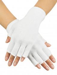 Fingerlose Armstulpen Handschuhe weiss
