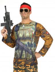 Herren-Shirt im Military-Look bunt
