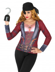 Piraten-Shirt für Damen bunt