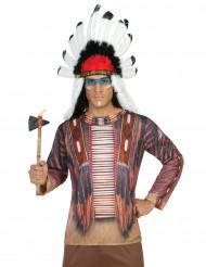 Indianer-Hemd Longsleeve Indianerhäuptling braun