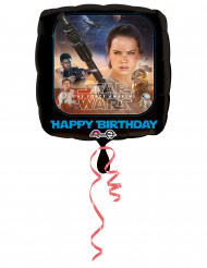 Alu-Luftballon Star Wars VII- Happy Birthday Dekoration Lizenzprodukt schwarz-braun 43 cm