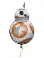 Alu-Luftballon Star Wars VII™ - BB-8 Dekoration Lizenzprodukt weiß-orange 43 cm