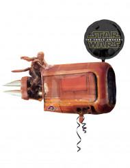Aluminium Luftballon - Star Wars VII Dekoration Lizenzprodukt schwarz-braun 43 cm