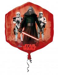 Alu-Luftballon Star Wars VII Dekoration Lizenzartikel rot-braun 55 x 58 cm