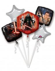 Ballon-Set aus Alu Star Wars Lizenzartikel 5-teilig mehrfarbig verschiedene Größen