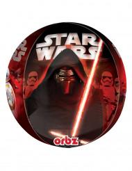 Alu-Luftballon Rund Star Wars VII - Dunkle Seite der Macht Dekoration Lizenzartikel rottöne 38 x 40 cm