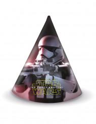 Star Wars VII Partyhüte Lizenzartikel 6 Stück mehrfarbig