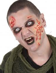 Zombie Schmink-Set mit Kontaktlinsen 3-teilig bunt