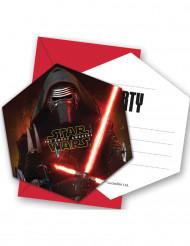 Star Wars VII Einladungskarten Set Kylo Ren Karten 12-teilig schwarz-rot-weiss