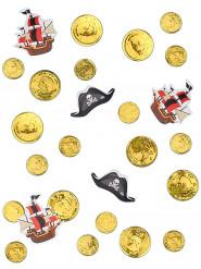 Konfetti Tischdekoration Piraten 3 Motive gold-schwarz-rot