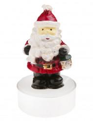 Weihnachtsmann Teelichter Weihnachtsdekoration 2 Stück weiß-rot-schwarz 6,5 cm hoch