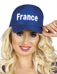 Baseballmütze Frankreich Fanartikel blau-weiss