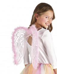 Engelsflügel Kinder rosa 40x33cm