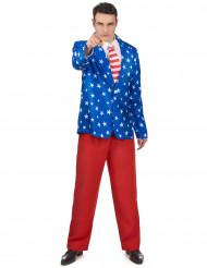 USA Herrenkostüm Anzug rot-blau-weiss