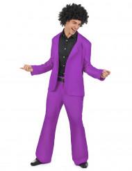 70er Jahre Tänzer Kostüm Disco Plus Size lila-schwarz