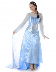 Schneekönigin Märchenkostüm für Damen hellblau-weiss