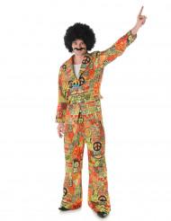 Hippie-Anzug 70er-Jahre Kostüm bunt