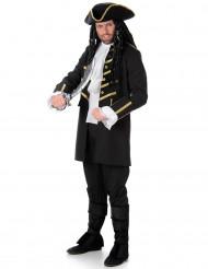 Eleganter Pirat Kostüm-Set schwarz-gold