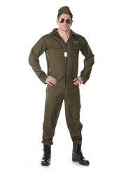 Jet-Pilot Kostüm grün