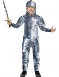 Ritter Kinderkostüm Mittelalter Krieger silber
