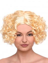 Lockige kurzhaar Perücke Damen blond