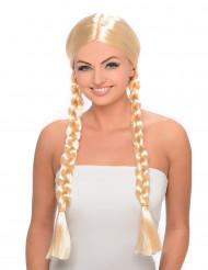 Märchen Zopfperücke Damen blond