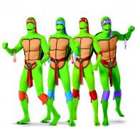 Ninja Turtles™ Second Skin Gruppenkostüm-Set für Herren grün-bunt