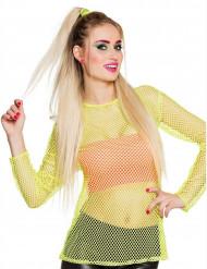Damen T-Shirt 80er in Neongelb