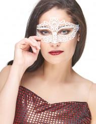 Venezianische Augenmaske Spitze Damen weiss